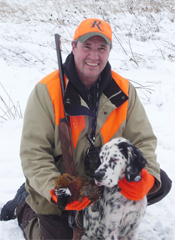 Wade with English Setter Lou